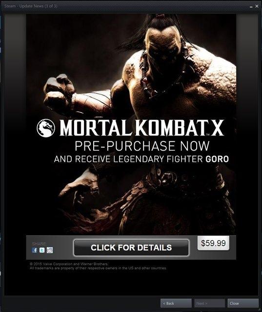Mortal Kombat X pre-purchase