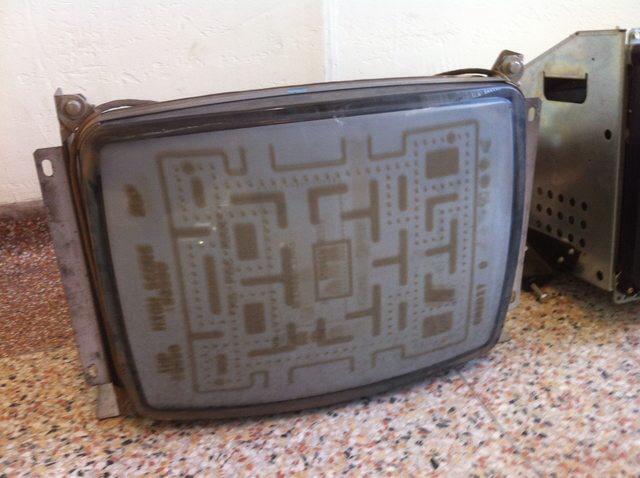 Pac Man screen burn